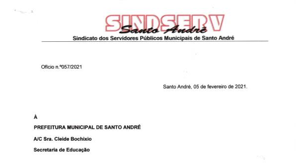 Imagem de Sindserv Santo André cobra respostas da Secretaria de Educação sobre condições de trabalho dos educadores