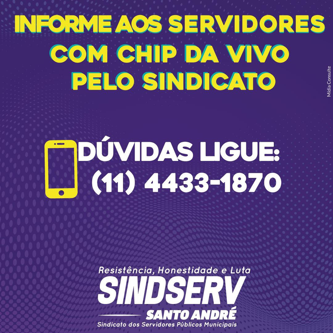 Imagem de Informe aos servidores com chip da operadora VIVO pelo Sindicato