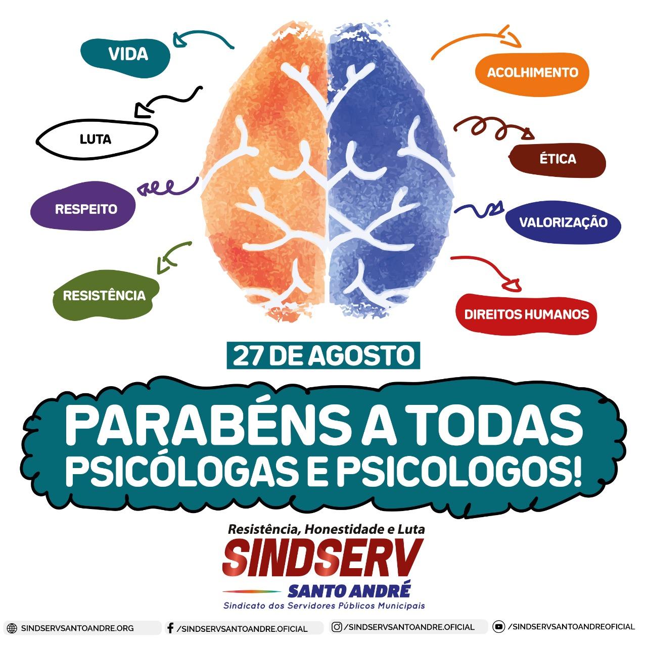 Imagem de Sindserv parabeniza Dia da Psicóloga e Psicólogo