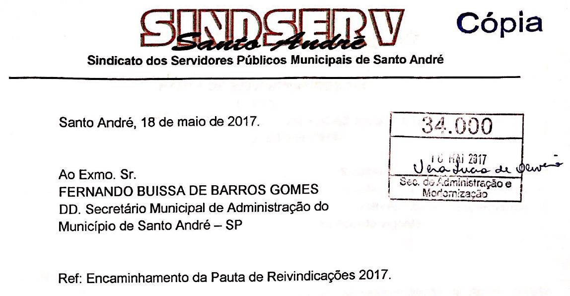 Imagem de Campanha Salarial 2017: Pauta de reivindicações já está com a Prefeitura