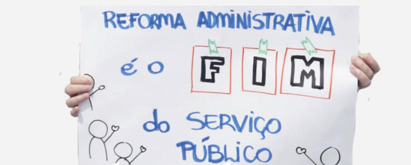 Imagem de Serviço público é direito do povo! Não à Reforma Administrativa